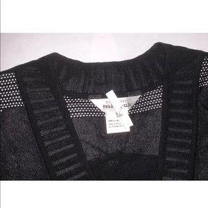 ExclusivelyMisook designer black tunic s/s top S/M
